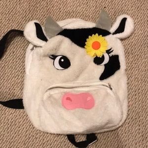 Claire's cute cow laptop backpack